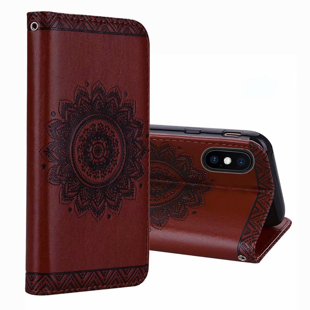 Anti Slip Cell Phone Accessories Luxury Mobile Phone Back Cover Case for iphone 6 Leather Flip Case