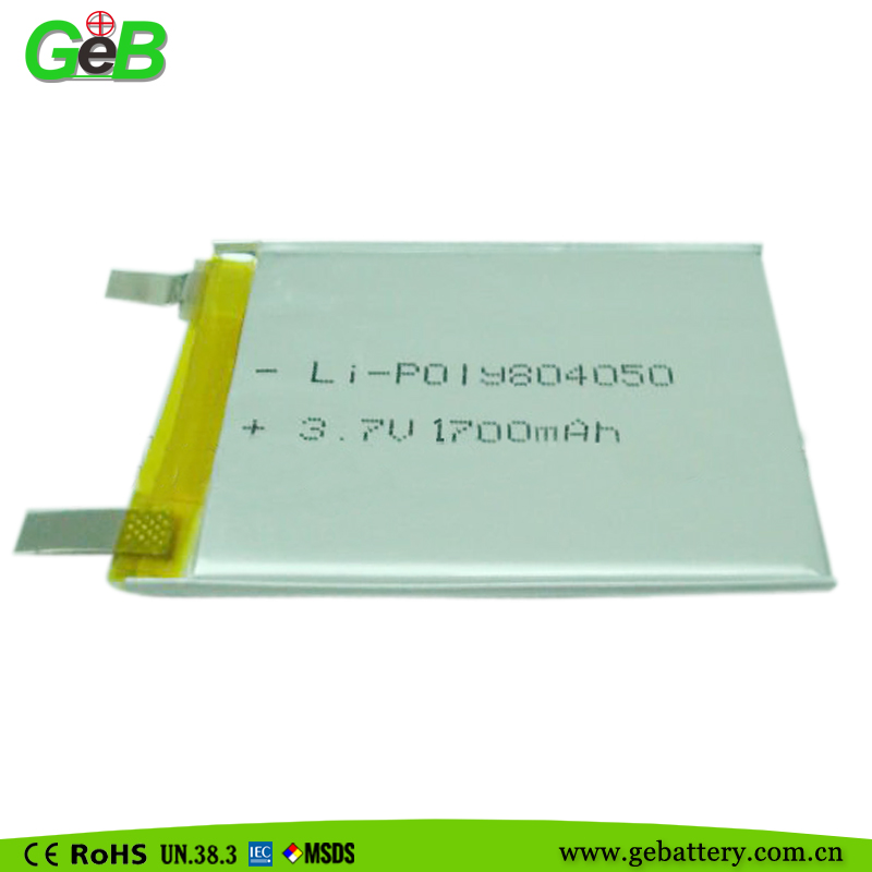 GEB 804050 3.7v 1700mah lithium polymer rechargeable battery mobile phone battery for micromax phone
