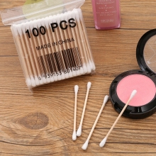 100Pcs/bag Disposable Cotton Swabs Beauty Makeup Tools Nose Ears Cleaning Double Head Cotton Buds