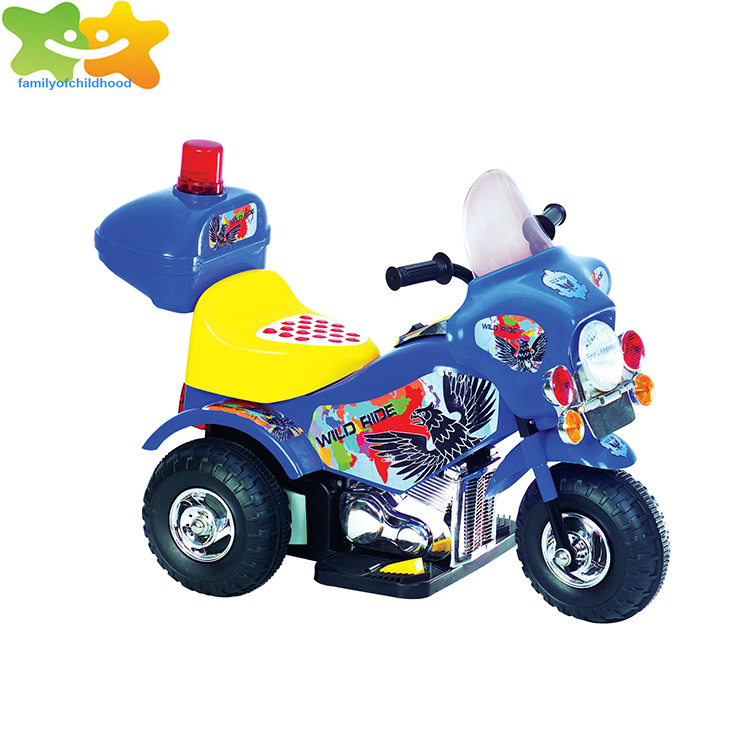 blue exported kids ride on car toy with wheel