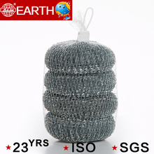 4pcs dish washing galvanized mesh cleaning ball