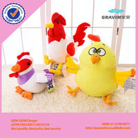 Custom Custom purple red colorful plush stuffed cock rooster toys for advertisement