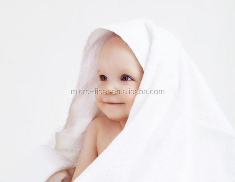 Super soft touch quick dry 100% cotton or bamboo baby towel