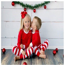 kids home wear boutique stripe christmas pajamas for kids