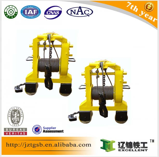 the top sale XBY small rail transport roller trolley for track