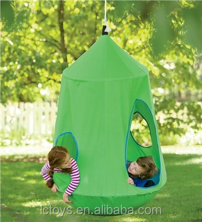 hugglepod hangout, hanging tent, indoor and outdoor use, hang from a stand