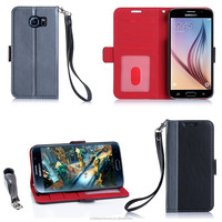 Wallet mobile phone case for Samsung S6 with handle strap