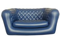 Blue PVC Chesterfield Inflatable outdoor sofa