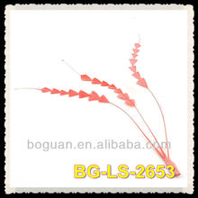 Flamingo Feather Stripped Coque Fish Bone Bunch