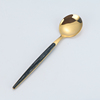 gold black spoon
