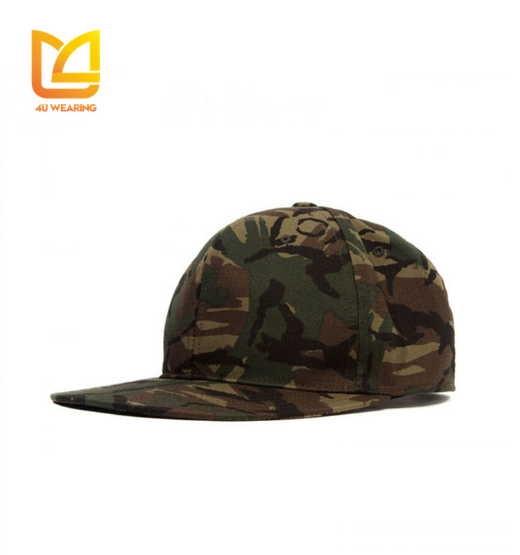 Fashionable classic twist off line camo hunting plain snapback cap
