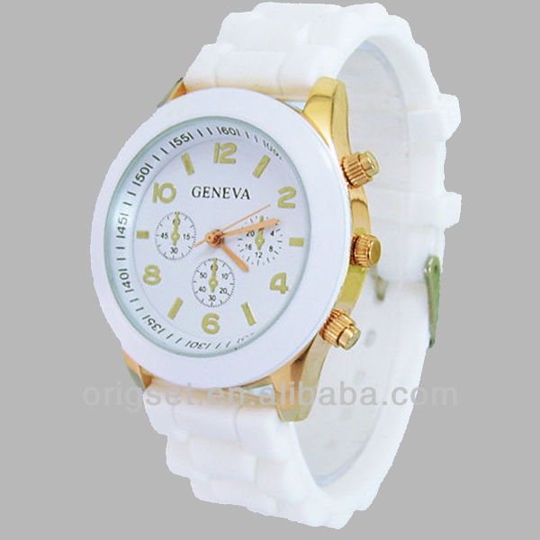 new and hot sale fashion silicone geneva watch cheap price small order quantity Customz watch