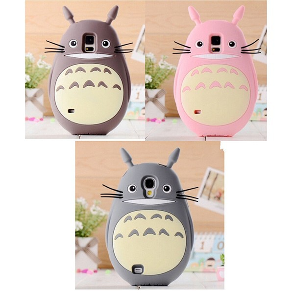 Cute 3D Animal Cartoon Totoro Silicone Phone Case Cover For Samsung s4/s5/note 2/note 3/note 4