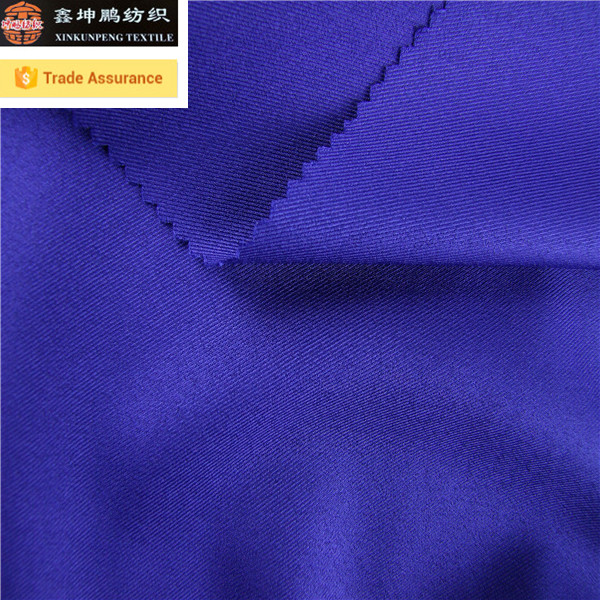 Woven twill soft confirmtable polyester spandex blend fabric for pants