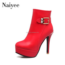 2018 Hot sexy high heel ankle italian women boots