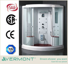 enclosed computerized steam shower room