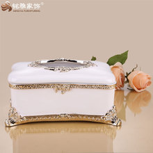 Nuovo design ornamento casa tissue paper box design