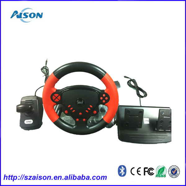 Factory Price For PS3/PS2/PC 3 in 1 Steering Wheel Racing Wheel