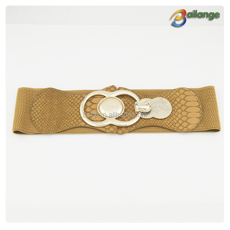 Flower PU material new style dresses wide decorative belt fashion for girl