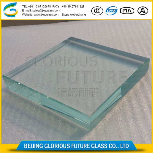 Security high strength clear tempered float glass 19mm factory in China