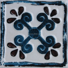 Foshan 7.5x7.5cm hand printed ceramics handmade ceramic wall and floor tiles