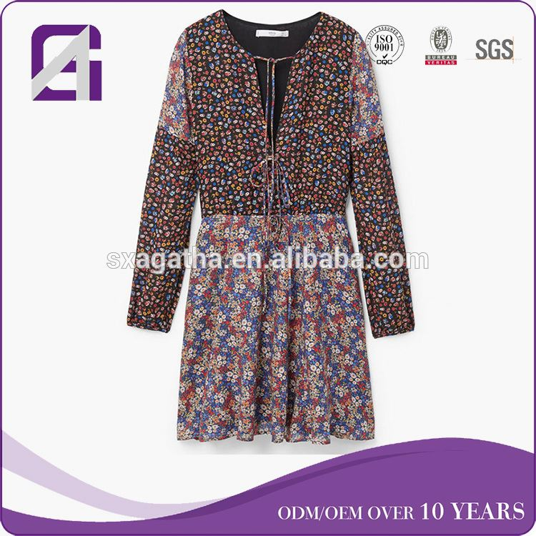 OEM Wholesale Factory long sleeve gaand visible transparent desi dress for women