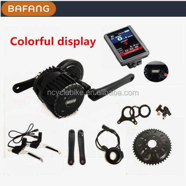 Bafang mid crank motor 48v 750w bbs-02 bafang bicycle mid motor kit with ebike battery