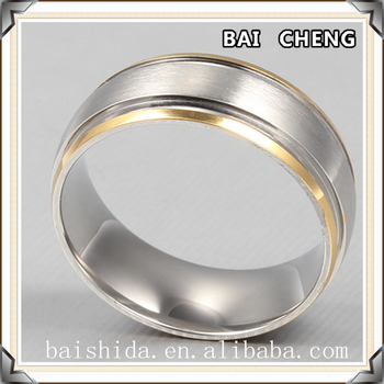 Factory price Wedding ring with high polishing stainless steel ring
