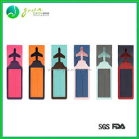 New design popular colorful silicone wholesale cheap rubber travel tag luggage tag
