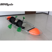 Two person transparent kayak Glass kayak bottom visible