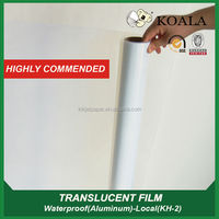 PET based waterproof transparent film for inkjet printers