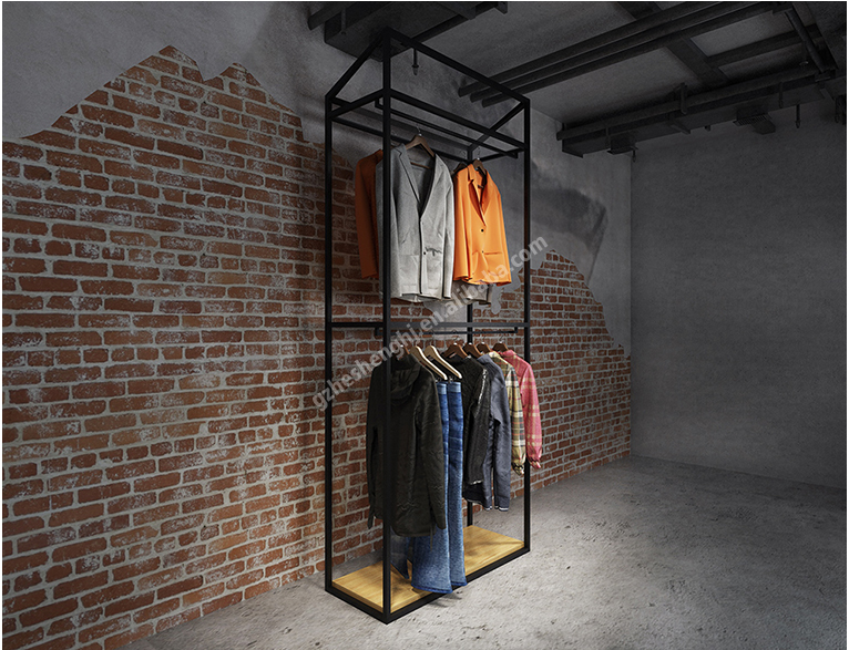 Tall rack.clothing store display fixtures. industrial style HA01G01