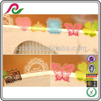Adhesive waterproof clear and colored sticker for window decoration