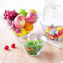Clear crystal glass salad bowls,glass fruit bowl,glass serving bowls.