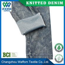Comfortable new fashion men's trousers&pants 4 way stretch knit denim cotton/spandex/polyester