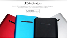 6000mah Dual USB Power Bank Backup Battery External Battery Charger for Apple iPhone iPad
