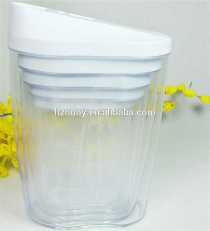 5 pcs PP plastic kitchen plastic container box set, clear plastic storage box with lid, home containers for food storage