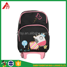 Cute student backpack child school bag for kids fashion rolling school children book bag trolley bags with wheels