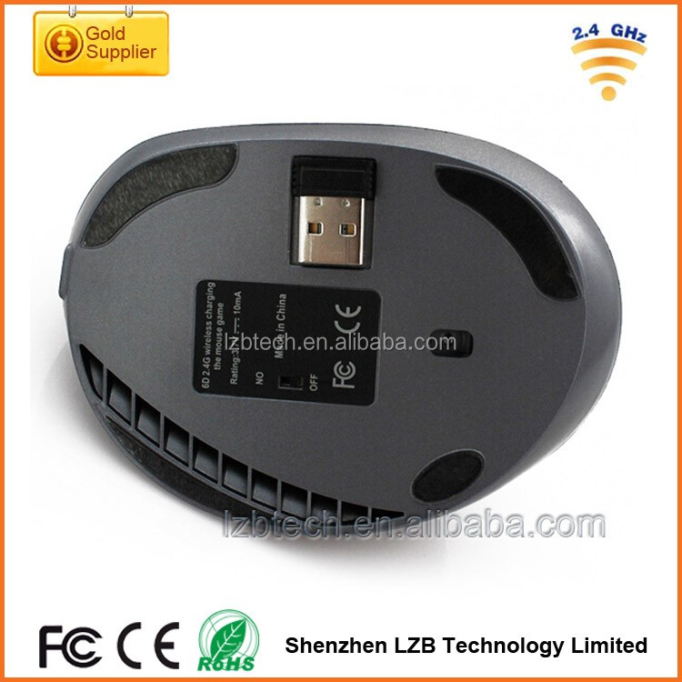 hottest selling New Design Ergonomic Healthy Vertical Wireless Mouse computer accessories optical Ergonomic vertical Mouse