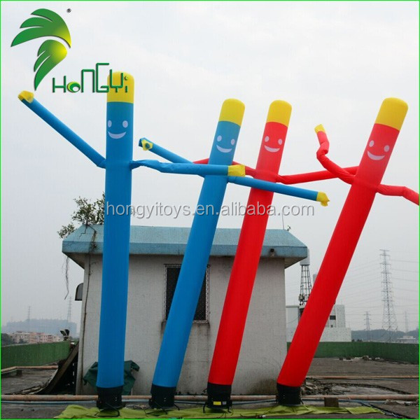 Outdoor Colorful Promotion Inflatable Wind Dancer / Event Display Air Dancing Tube Man For Sale