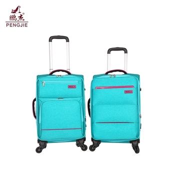 2019 wholesale cheap children colorful fabric travel luggage set for sale
