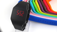 The top sell simple LED watch silicone led dazzle colour watch is in 2016