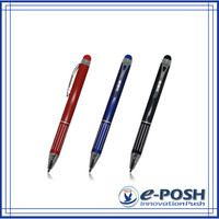portable customizing engraving metal touch screen stylus promotional mini refill pen