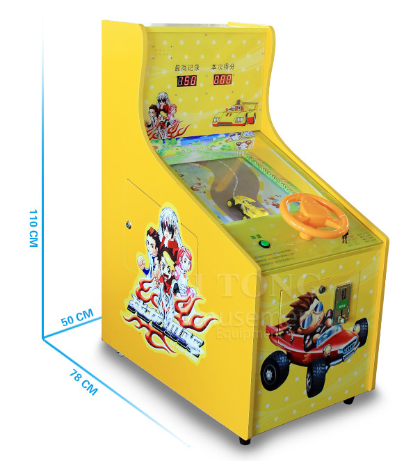 coin operated pinball car racing game machine for kids' entertainment