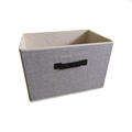 Household essentials canvas fabric storage boxes with lids and handles