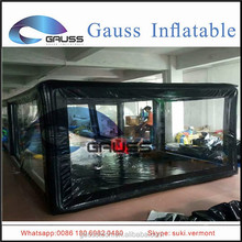 Waterproof inflatable car washing garage tent air tight inflatable car wash tent