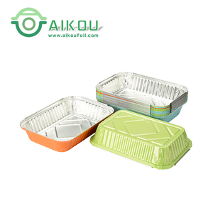 Full sizes Ramadan decorative disposable aluminum foil food container for takeaway