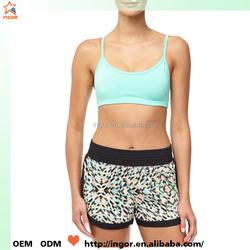 OEM dry fit women's yoga wear hot sexy yoga bra supplier