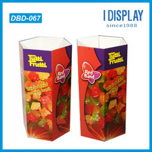 Candy cardboard merchandising display dump bins stand rack for retail