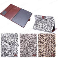 Fashion Leopard pattern leather stand case for iPad air2 , for ipad air 2 cover case , PU leather tablet cover